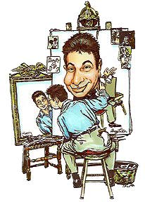 Illustration Caricature Artist Aron