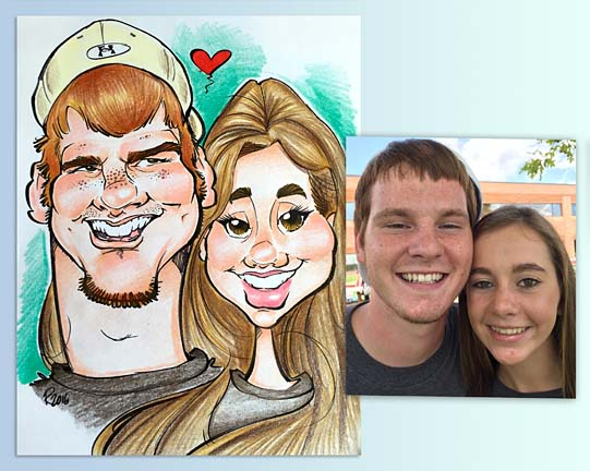Indianapolis Party Caricatures