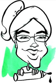Party Caricature Artist Catherine