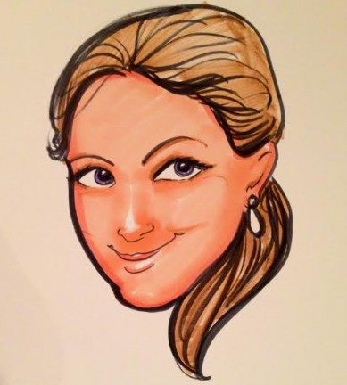 Party Caricature Artist Christine