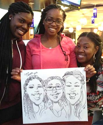 Rockland Party Caricatures