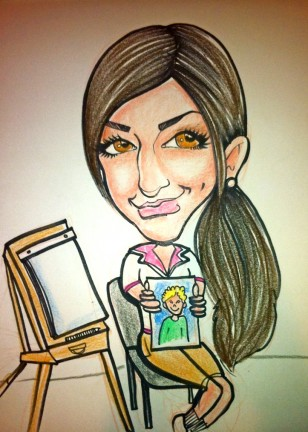 Party Caricature Artist Courtney