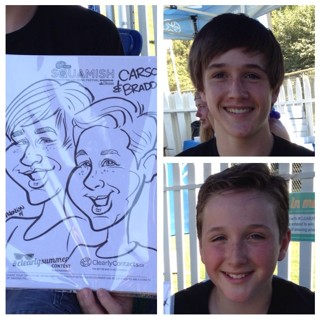 Vancouver Party Caricatures