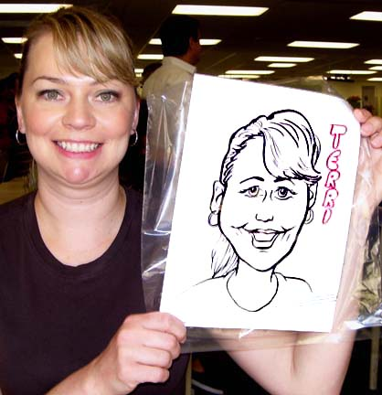 Newark Party Caricatures