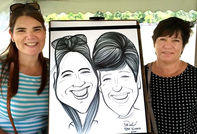 Muskegon Party Caricatures