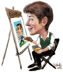 Party Caricature Artist Elaine