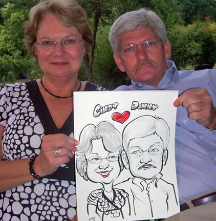 Charlotte Party Caricatures