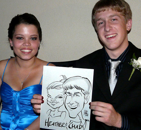 Los Angeles Party Caricatures