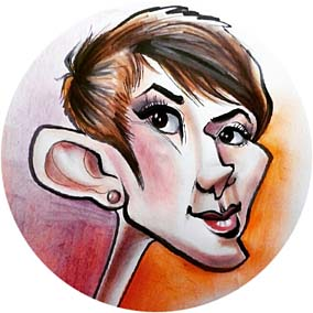 Party Caricature Artist Jessica