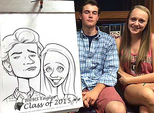 Columbus Party Caricatures