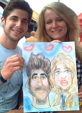 Milwaukee Party Caricatures
