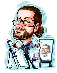 Party Caricature Artist Michael
