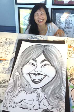 Las Vegas Party Caricatures