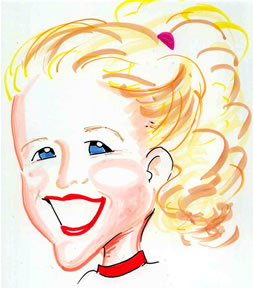 Party Caricature Artist Monica