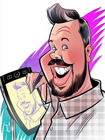 Party Caricature Artist Nolan