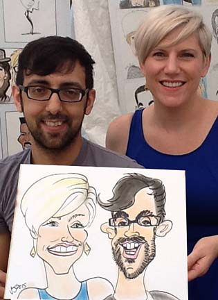 Augusta Party Caricatures