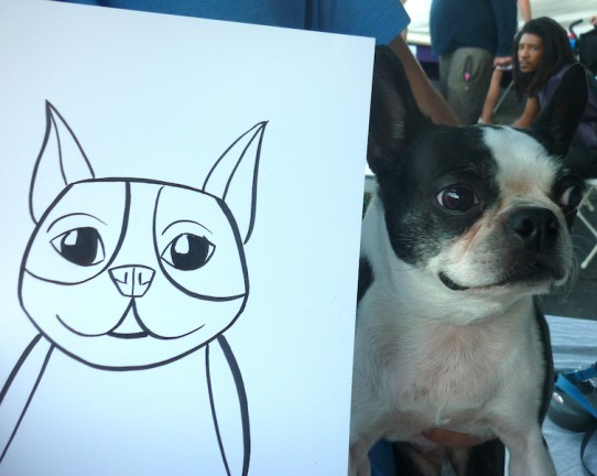 Los Angeles Party Pet Caricatures