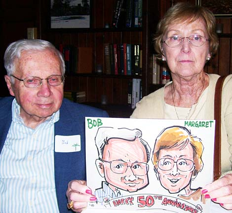Detroit Party Caricatures