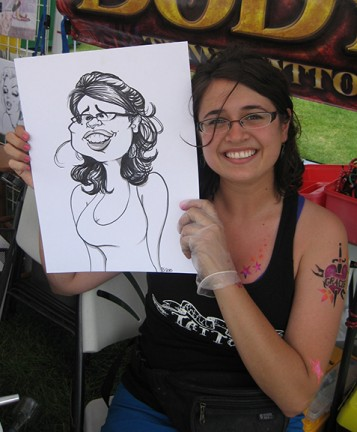 Minneapolis-St Paul Party Caricatures