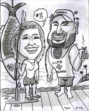 Honolulu Party Caricatures