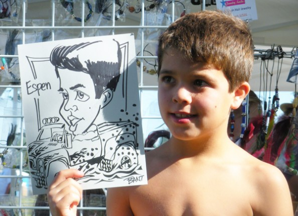 Riverside Party Caricaturist